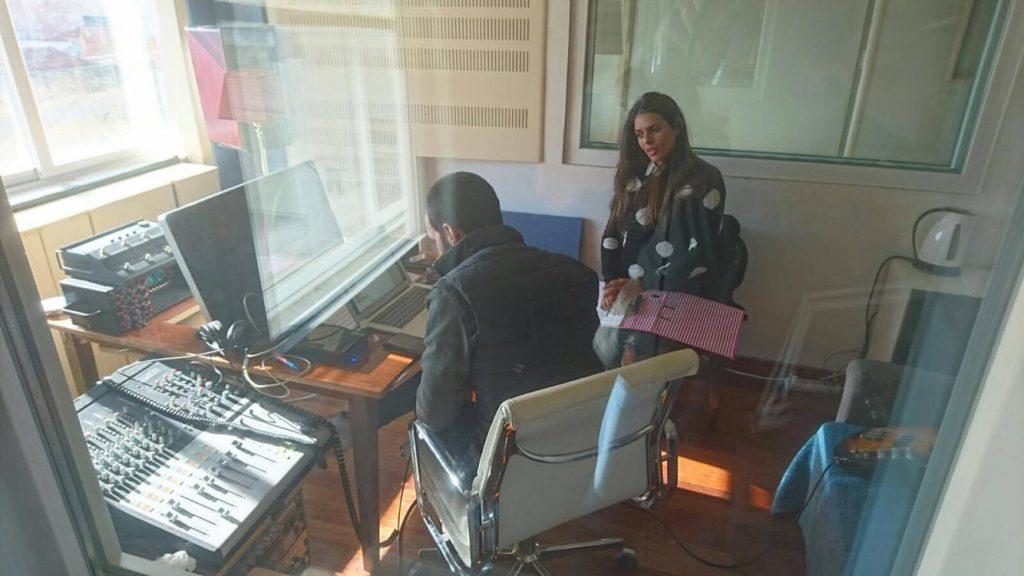 Cuca Roseta e Diogo Clemente em estúdio